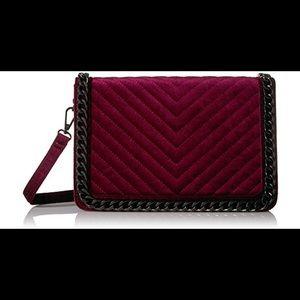 Aldo Duroante Velvet Crossbody Bag